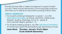 Burnaby Schools offer a variety of programs to support student success. These include elementary school programs for French Immersion and Mandarin Language […]