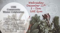 On Wednesday December 11th from 5-7pm, the PAC is hosting a Community Winter Celebration in the UHE gym. Bring the whole family to enjoy holiday music, warm beverages, gift wrapping […]