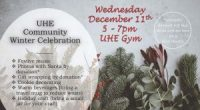 On Wednesday December 11th from 5-7pm, the PAC is hosting a Community Winter Celebration in the UHE gym. Bring the whole family to enjoy holiday music, warm beverages, gift […]