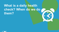 As we return to school after the Spring Break, it is important to remember to complete a Daily Health Check. The following daily health check is for students and their […]